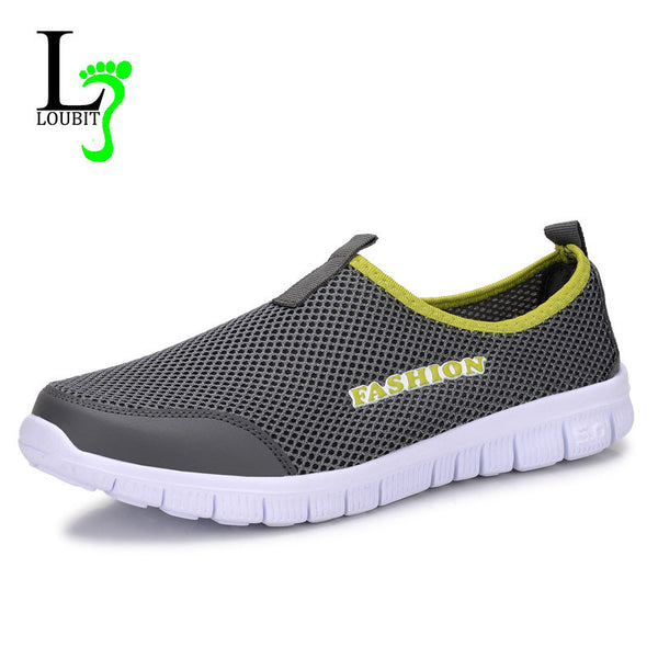 Men Shoes Summer Shoes Light Comfortable Men Casual Shoes Mesh Breathable Loafers Footwear Plus Size 38-46 - EnsoStore