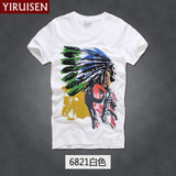 Mens T Shirts Fashion 2016 Hollistic Men Short Sleeve AF Band T Shirt Men Casual 100% Cotton Tshirt Tops Camisetas Hombre Camisa-Men's Tops & Tees-Enso Store-6821-S-Enso Store