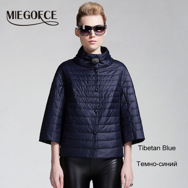 MIEGOFCE 2016 new spring short jacket women fashion coat padded cotton jacket outwear High Quality Warm parka Women's Clothing-Enso Store-604 tibetan blue-S-China-Enso Store