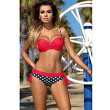 Minimalism Le 2017 Summer Low Waist Bikini Set BK312-Women's Swimwear-Enso Store-Red Dot-S-Enso Store