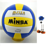 MINSA 5 Charging Soft Volleyball for Students and Adult Examination Indoor Training Ball-Team Sports-Enso Store-Blue-Enso Store