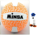 MINSA 5 Charging Soft Volleyball for Students and Adult Examination Indoor Training Ball-Team Sports-Enso Store-Orange-Enso Store