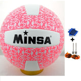MINSA 5 Charging Soft Volleyball for Students and Adult Examination Indoor Training Ball-Team Sports-Enso Store-Pink-Enso Store