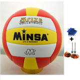 MINSA 5 Charging Soft Volleyball for Students and Adult Examination Indoor Training Ball-Team Sports-Enso Store-Red-Enso Store