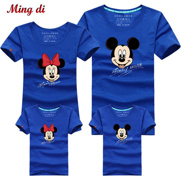 b3206b63 Mouse Family Look Matching Mother and Daughter Clothes Mother Son Outfits  New 2017 Mother Father Baby Boys Girls T-shirts
