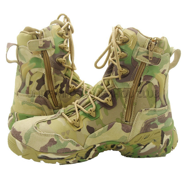 Multicam Outdoor Camping Boots Tactical Hunting Leather High Quality Boots Men Size 39-45-Men's Boots-Enso Store-6-Enso Store