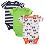 Near Cutest 3pcs/lot 2017 Baby Boys Girls Clothes Infant Clothes Animal 100% Cotton Newborn Baby Rompers Baby Clothing Set-Baby Boys Clothing-Enso Store-Baby Romper 10-3M-Enso Store