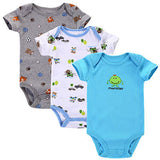 Near Cutest 3pcs/lot 2017 Baby Boys Girls Clothes Infant Clothes Animal 100% Cotton Newborn Baby Rompers Baby Clothing Set-Baby Boys Clothing-Enso Store-Baby Romper 11-3M-Enso Store