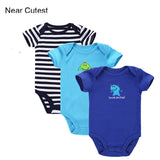 Near Cutest 3pcs/lot 2017 Baby Boys Girls Clothes Infant Clothes Animal 100% Cotton Newborn Baby Rompers Baby Clothing Set - EnsoStore