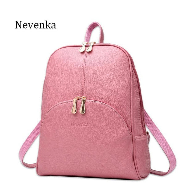 b0677bd0ee20 ... Nevenka Women Backpack Leather Backpacks Softback Bags Brand Name Bag  Preppy Style Bag Casual Backpacks Teenagers ...