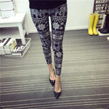New 2016 Spring Summer Womens Fashion Black Milk Thin Stretch leggings Colored Stars Graffiti Slim Skinny Leggings Pants Female-Women's Bottoms-Enso Store-Elephant Black-One Size-Enso Store