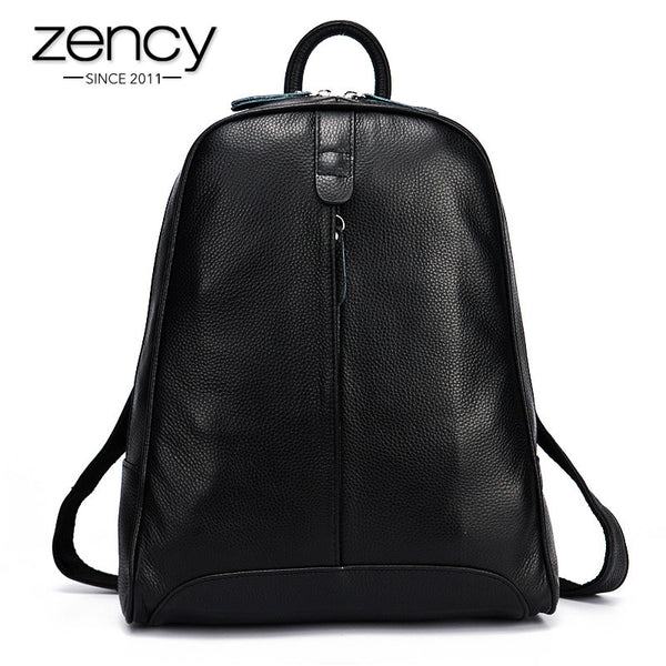 New 2017 100% Real Soft Genuine Leather Women Backpack Woman Korean Style Ladies Strap Laptop Bag Daily Backpack Girl School-Women's Backpacks-Enso Store-Apricot-Enso Store
