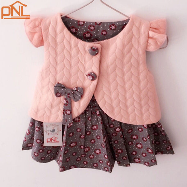 New 2017 Spring Baby Girl Cotton Dresses Sleeveless Beautiful Flower Baby Kids Clothing-Baby Girls Clothing-Enso Store-skirt with top 1-7-9 months-Enso Store