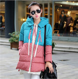 New Aarrivals Fashional Women jacket Hoody Long Style Warm Winter Coat Women Plus Size M~XXXL-Enso Store-blue and pink-M-Enso Store
