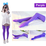 NEW Beauty Women Girl Spring Autumn Opaque Footed Tight Sexy Pantyhose Leg Warmers-Enso Store-Purple-Enso Store