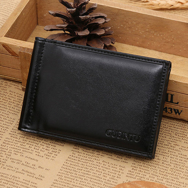 71585485b8c4 New Brand Luxury Business Man money clip wallet with metal clamp magnet hasp  card slots slim