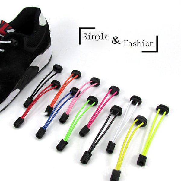 New Elastic No Tie Locking Shoelaces Running Athletic Sneaks Shoelaces 4 Colors-Shoe Accessories-Enso Store-Black-Enso Store