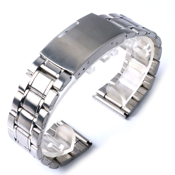 New High Quality Watch Band Womens Men 20mm 22mm Buckle Silver Stainless Steel Watch Band Strap Straight End Bracelet-Watch Accessories-Enso Store-20mm-Enso Store