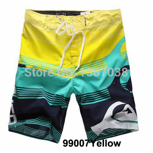 New Men's Board Shorts Surf Trunks Swimwear Twin Micro Fiber Striped Boardshorts Bathing Suit Plue Szie-Men's Swimwear-Enso Store-Blue-S-Enso Store