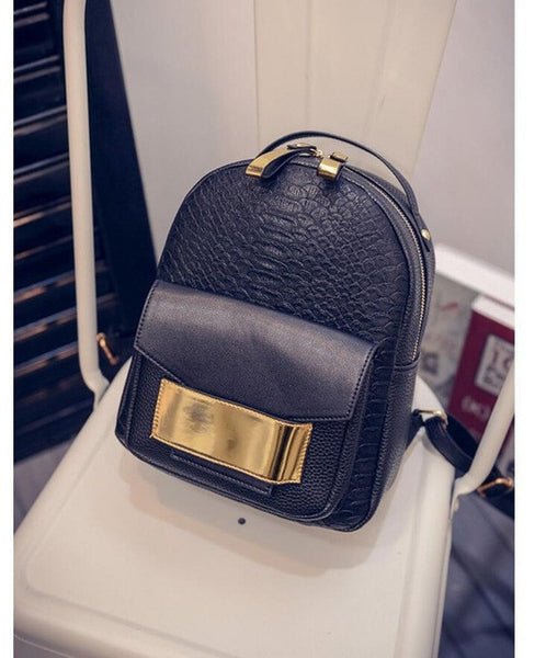 New Snake PU Leather Women Backpack Female Fashion Rucksack Brand Designer Ladies  Back Bag High Quality ab3d8996fa