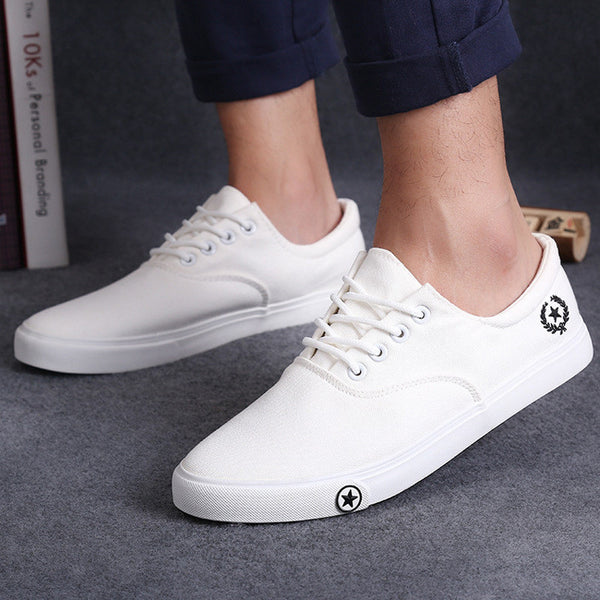 New spring summer Men s casual shoes breathable fashion men canvas shoes man  flats-Men s Vulcanize ... 3ee40a9494d1