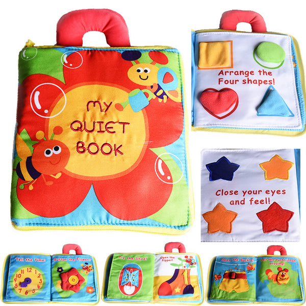 New Stereo Flowers Baby Toys Hot New Infant Kids Early Development Cloth Books Learning Education Toys Creative Gifts Books-Baby Toys-Enso Store-Enso Store