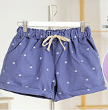 New Summer Shorts With Cats Pattern High Waist Elastic Cotton Short Fresh Floral Women Shorts Feminino-Women's Bottoms-Enso Store-212jeanblue-One Size-Enso Store