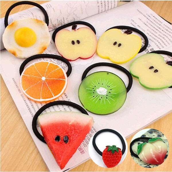 New Summer Style Many Patterns Fruits Slice Hair Accessories for Girls Kids Women Elastic Hair Bands Rubber Bands Headwear-Women's Accessories-Enso Store-ts010101-Enso Store
