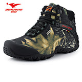 New waterproof canvas hiking shoes boots Anti-skid Wear resistant breathable fishing shoes climbing high shoes-Sneakers-Enso Store-Gray-7.5-Enso Store