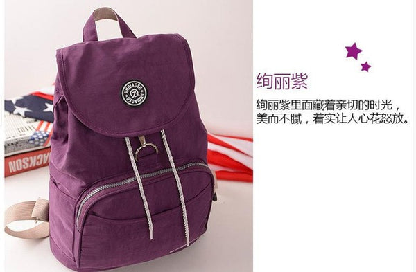 fda10cb073 New Women Backpack Waterproof Nylon 10 Colors Lady Women s Backpacks F –  Enso Store