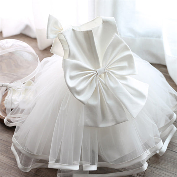 Newborn Baby Girls Dresses Princess 1 Year Birthday Baby Girl Dress White Formal Christening Gown Dress Cute Bow For Infant 0-2Y-Baby Girls Clothing-Enso Store-C00230B-7-9 months-Enso Store