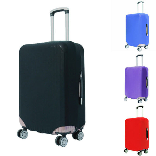 Newest Suitcase Protective Trunk Covers Apply To 18~30 Inch Case Elastic Travel Luggage Cover Stretch Trolley case Dust cover-Bag Parts & Accessories-Enso Store-Black-S-Enso Store