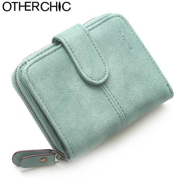 OTHERCHIC Nubuck Leather Women Short Wallets Ladies Fashion Small Wallet  Coin Purse Female Card Wallet Purses Money Bag 6N08-15 f82219e5b7