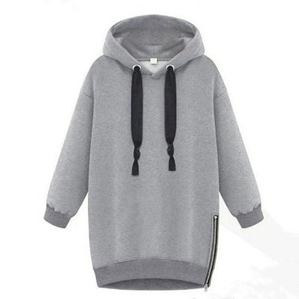 Oversized 2017 Spring Autumn Zanzea Womens Long Sleeve Hooded Loose Casual Warm Hoodies Sweatshirt 3 Colors Plus Size S-5XL-Enso Store-Gray-S-Enso Store