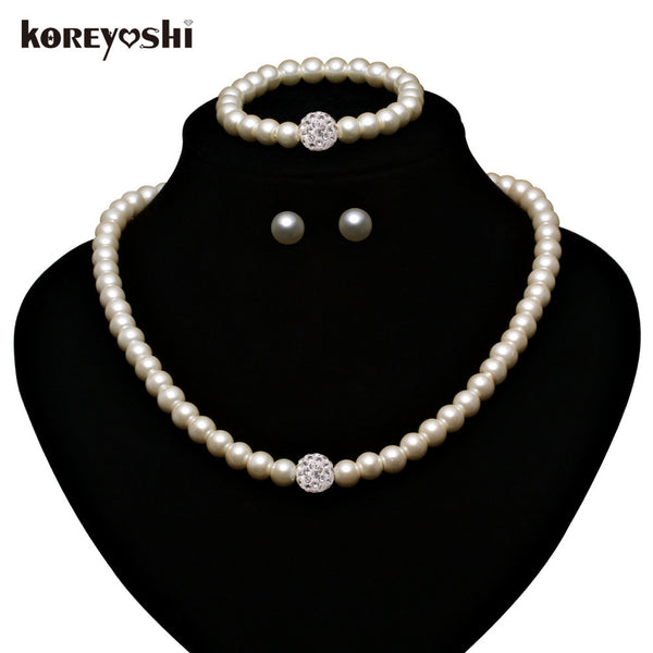 9b9a1e6158 Pearl Jewelry Sets making Fashion Imitation Natural beads wedding jewe –  Enso Store