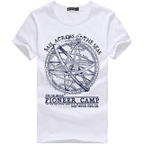 Pioneer Camp 2017 men shorts t shirt men fashion brand design pretty cotton young white slim straight tshirts o-neck 405038-Men's Tops & Tees-Enso Store-White-XXXL-Enso Store