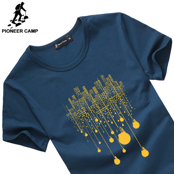 Pioneer Camp 2017 new fashion summer short men t shirt brand clothing cotton comfortable male t-shirt tshirt men clothing 522056-Men's Tops & Tees-Enso Store-Dark Blue 522056-M-Enso Store