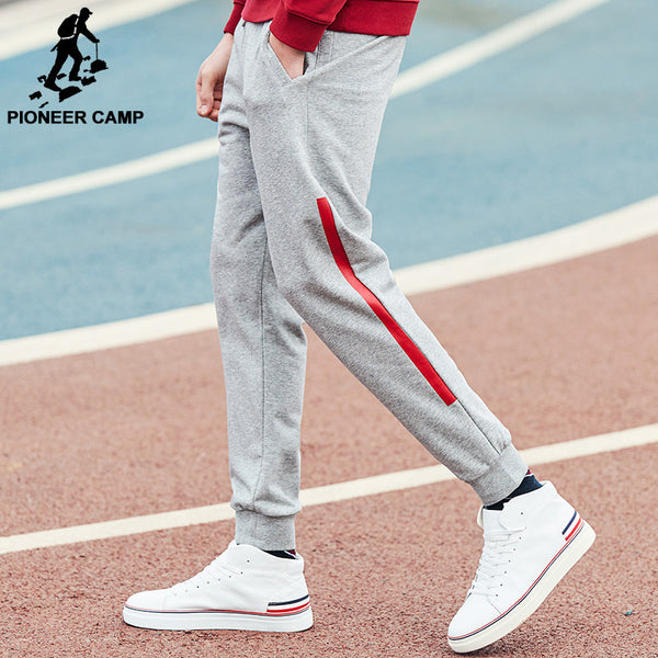 Pioneer Camp New arrival Spring pants men brand clothing casual trousers male top quality fashion men sweatpants-Men's Pants-Enso Store-Black-XL-China-Enso Store