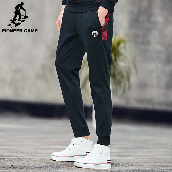 Pioneer Camp New Spring casual pants men brand clothing Camouflage patchwork Sweatpants quality male joggers-Men's Pants-Enso Store-Black-M-China-Enso Store
