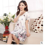 Plus Size Nightgowns For Women Long Cartoon Girls Nightshirts Nightdress Cotton And Silk Sleepshirt Summer Dressing Gowns E0021-Enso Store-Lotus-L-Enso Store