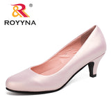 2017 ROYYNA Spring Autumn New Styles Pumps Women Big Size Fashion Sexy Round Toe Sweet Colorful Soft Women Shoes