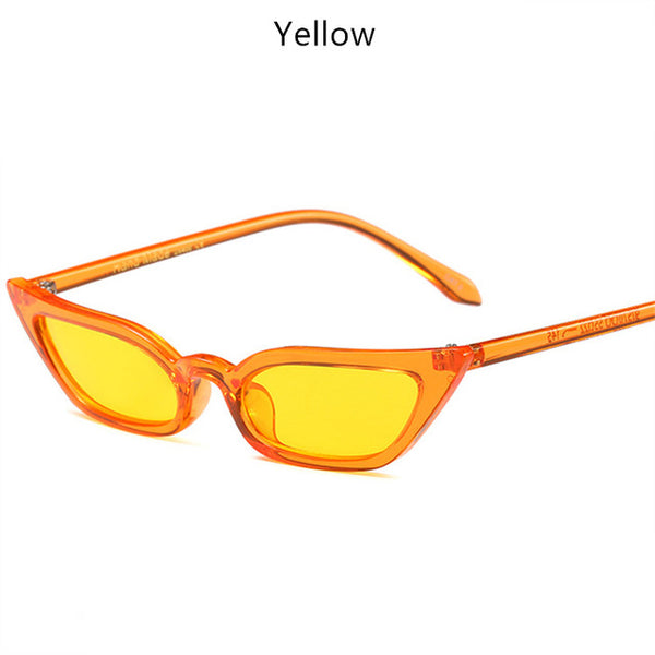 YOOSKE Cat Eye Sunglasses Small Size Modern Retro Designer Women Sun Glasses