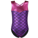 BAOHULU 3-12Y Kids Girls Swimsuit One Piece Baby Bikini Swimwear Children Mermaid Bathing Suit Swimming Dress for Girl Beachwear