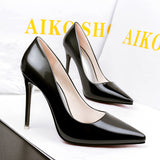 2018 Women pumps Fashion gradient color High heels single shoes female Spring Summer patent leather wedding party shoes woman