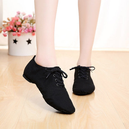 Professional Soft canvas Indoor dance jazz shoes woman ballet pointe shoes for MEN gym shoe 28-45-Sneakers-Enso Store-Black Adult size-4.5-Enso Store