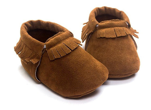 fb176c1789e PU Suede Leather Newborn Baby Boy Girl Baby Moccasins Soft Moccs Shoes Bebe  Fringe Soft Soled Non-slip Footwear Crib Shoes