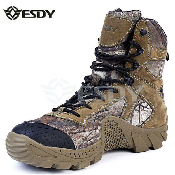 Real Leather Esdy Brand Designer Men Military Tactical Boots For Men's Outdoor Hunting Desert Black Motorcycle Army Combat Shoes-Men's Boots-Enso Store-Multi-6.5-Enso Store