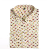 Red Polka Dot Shirts Women Cotton Blouses Long Sleeve Ladies Tops Collar Shirt Female Plus Size 5XL Blusas Clothing For Women-Women's Blouses-Enso Store-Beigedot-4XL-Enso Store