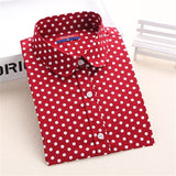Red Polka Dot Shirts Women Cotton Blouses Long Sleeve Ladies Tops Collar Shirt Female Plus Size 5XL Blusas Clothing For Women-Women's Blouses-Enso Store-Mreddot-XXL-Enso Store