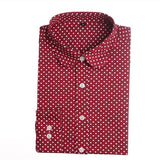 Red Polka Dot Shirts Women Cotton Blouses Long Sleeve Ladies Tops Collar Shirt Female Plus Size 5XL Blusas Clothing For Women-Women's Blouses-Enso Store-red-4XL-Enso Store